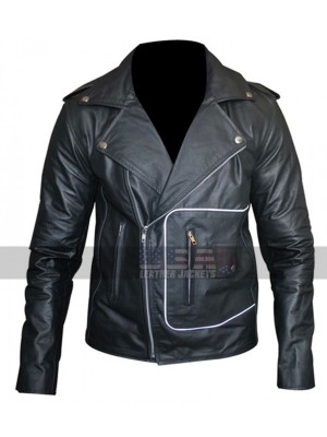 Grease T Birds Black Biker Leather Jacket