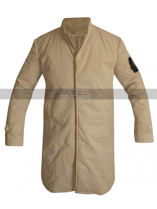 Charlie Hunnam Island Jacket Green Street Pete Dunham Cotton Beige Trench Coat