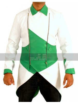 Connor Kenway Assassin's Creed 3 Faux Green-White Jacket Costume