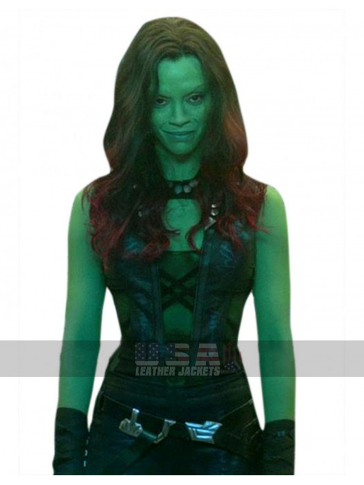 Guardians of Galaxy 2 Gamora Costume Leather Vest