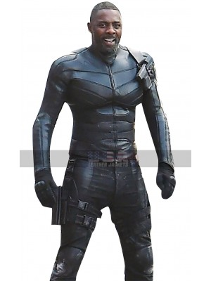 Hobbs and Shaw Idris Elba (Brixton) Costume Black Leather Jacket