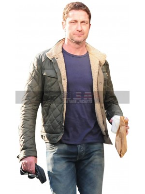 Hunter Killer Gerard Butler (Captain Joe Glass) Quilted Shearling Jacket