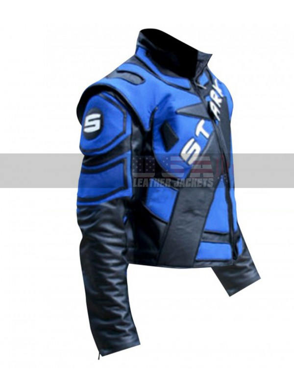 Robert Downey Jr Iron Man 2 Motorcycle Costume Leather Jacket