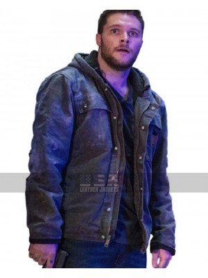 Jack Reynor Kin 2018 Jimmy Solinski Cotton Hoodie Grey Jacket