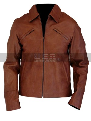 Joseph Gordon Levitt Inception Arthur Brown Leather Jacket
