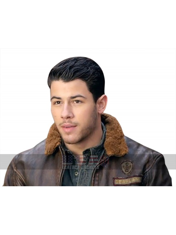 Alex (Nick Jonas) Jumanji 2 Welcome To The Jungle Fur Collar Jacket