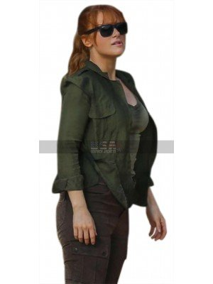 Jurassic World Fallen Kingdom Claire Dearing Green Cotton Jacket