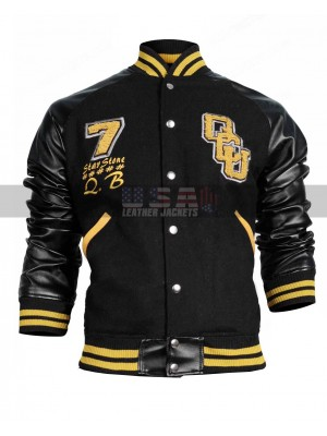 Justice League Victor Stone Cyborg Varsity Letterman Bomber Wool Jacket