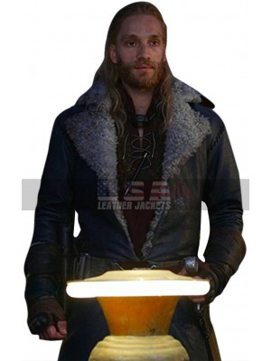 Mortal Engines Leifur Sigurdarson Fur Shearling Leather Coat
