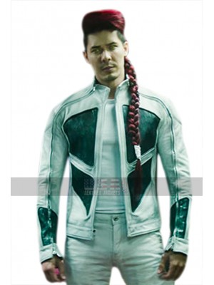 Lewis Tan Deadpool 2 Shatterstar Black And White Leather Jacket