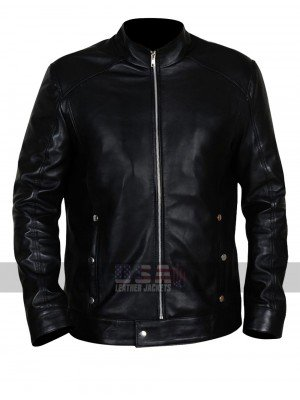 Limitless Bradley Cooper (Eddie Morra) Black Biker Leather Jacket