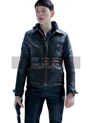 Claire Foy The Girl in Spider's Web Black Leather Jacket