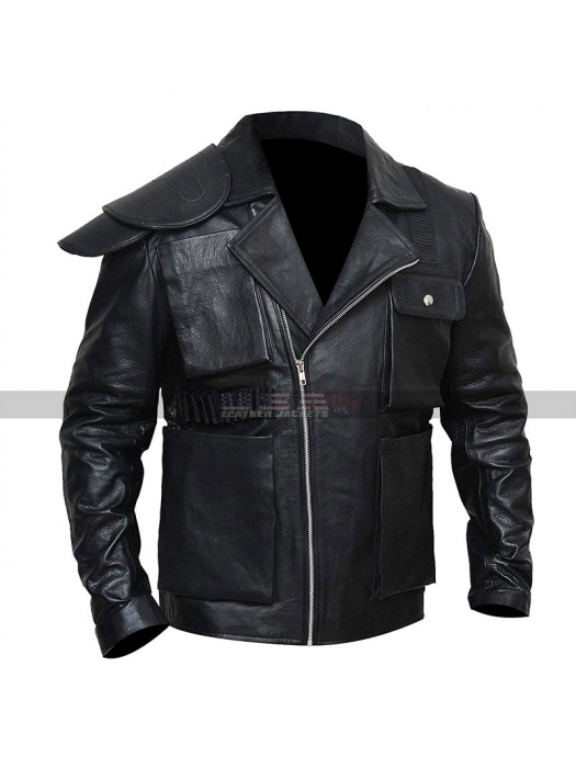 Men's Tom Hardy Mad Max Fury Road Movie Max Rockatansky Black Leather Jacket