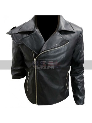 Mad Max Road Warrior Rockatansky Biker Black Leather Jacket