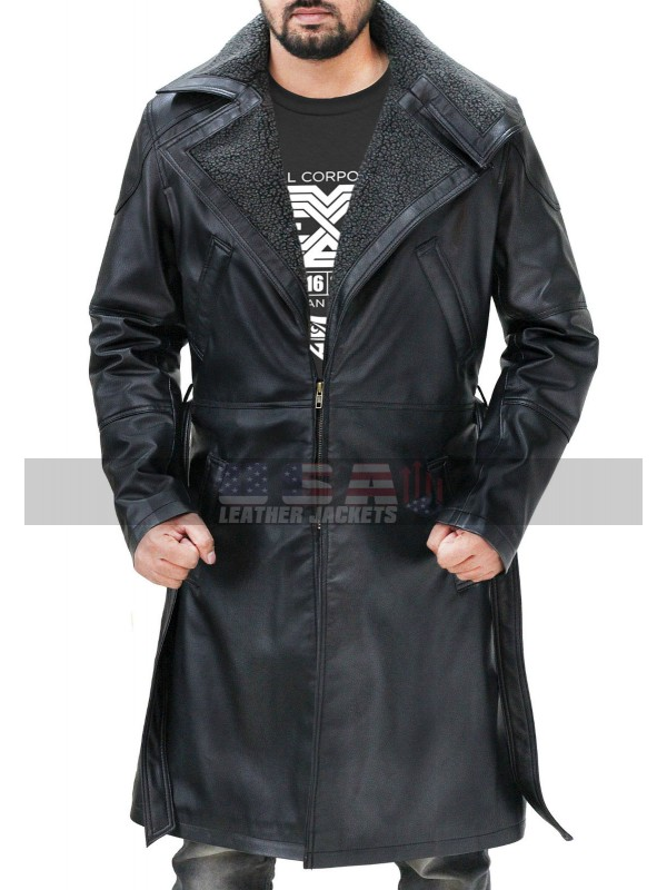 Blade Runner 2049 Ryan Gosling Fur Shearling Leather Coat
