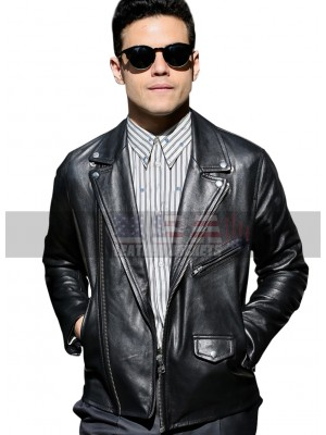 Rami Malek Bohemian Rhapsody Black Leather Jacket