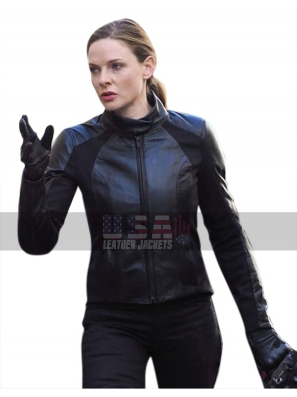 Mission Impossible 6 Fallout (Ilsa Faust) Rebecca Ferguson Biker Leather Jacket