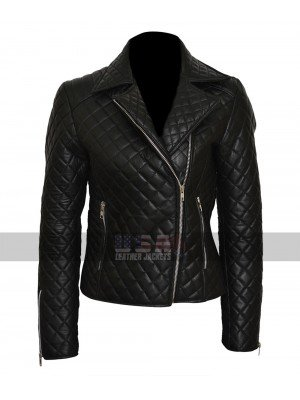 Vampire Academy Rose Hathaway (Zoey Deutch) Quilted Leather Jacket