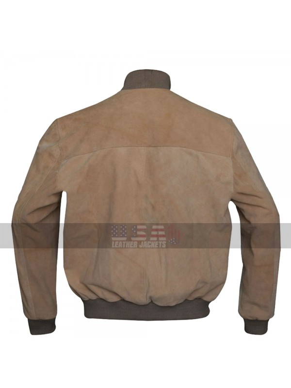 San Andreas Dwayne Johnson (Ray) Brown Bomber Leather Jacket