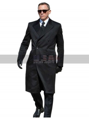 James Bond Spectre Daniel Craig Wool Trench Coat
