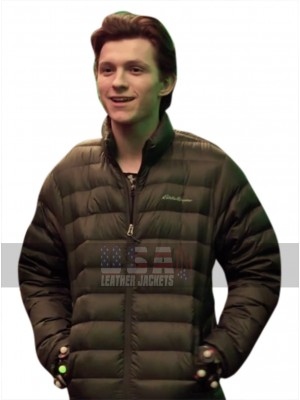 Avengers Infinity War Peter Parker (Tom Holland) Brown Parachute Jacket