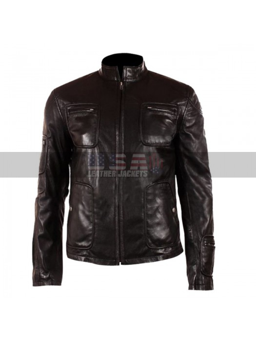 Chris Pine Star Trek James Kirk Black Leather Jacket