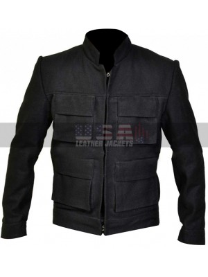Star Wars Empire Strikes Back Han Solo Black Wool Jacket