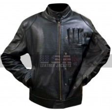 Han Solo Star Wars Force Awakens Fighter Black Leather Jacket