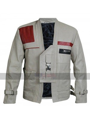Star Wars The Force Awakens Finn Costume Leather Jacket