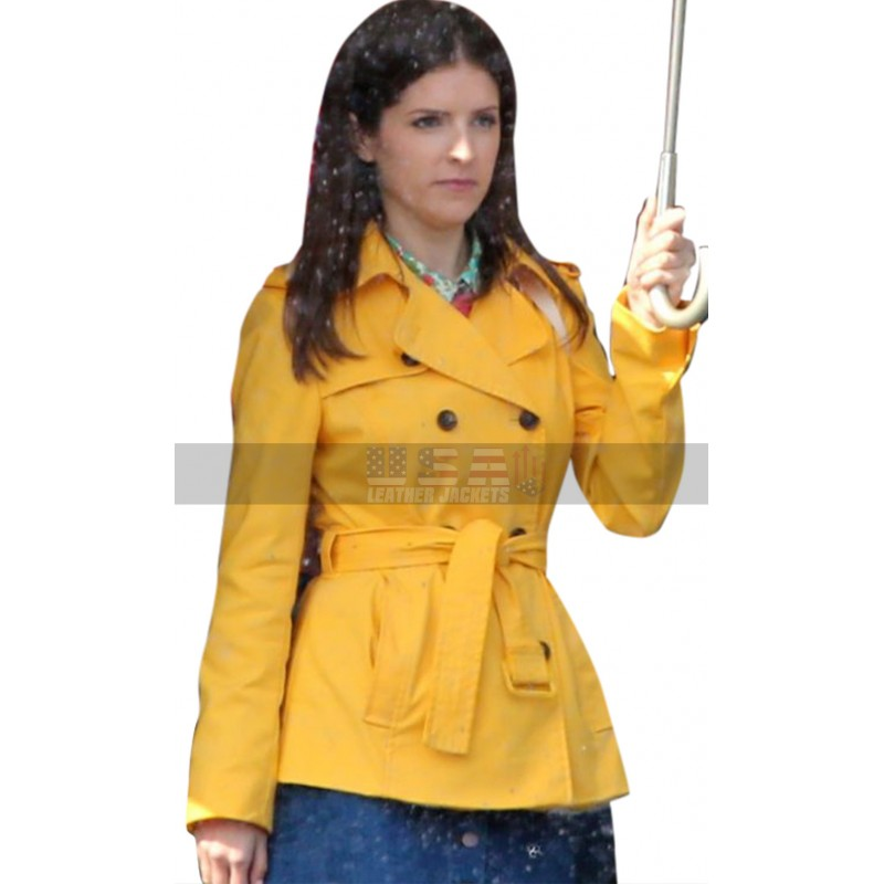 A Simple Favor Anna Kendrick (Stephanie Smothers) Yellow Cotton Jacket