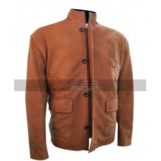 Arrow Stephen Amell Brown Suede Leather Jacket