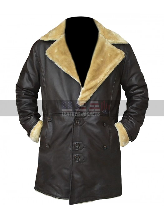 Trevor Jackson SuperFly Fur Shearling Brown Leather Coat