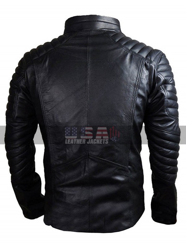 Superman Movie Smallville Black Quilted Leather Jacket