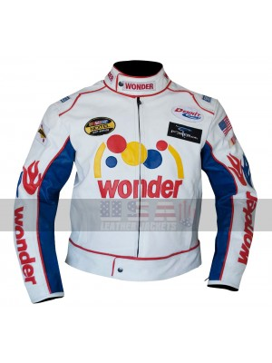 Talladega Nights Ricky Bobby Wonder Racing Costume Leather Jacket