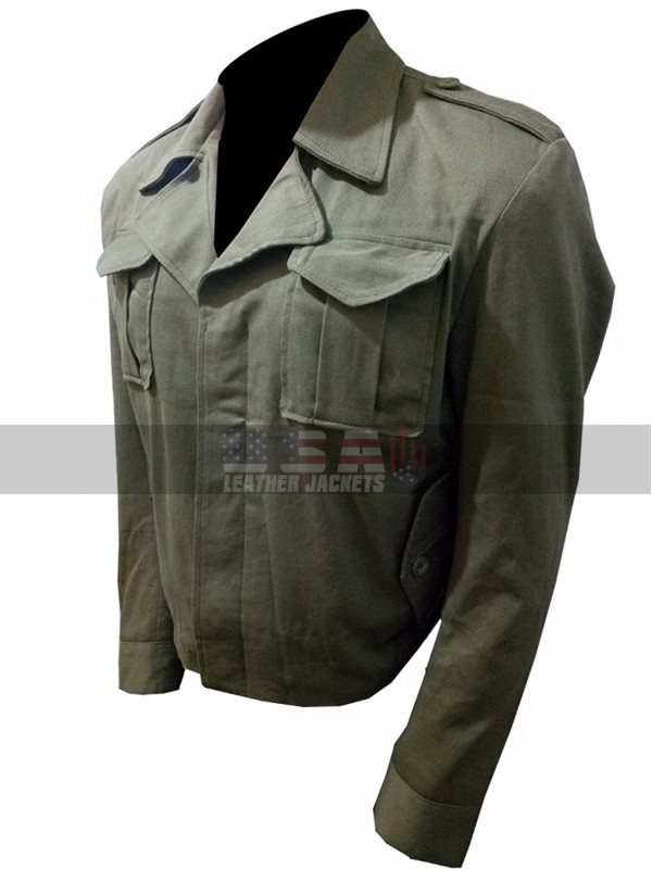 Tom Cruise The Mummy Nick Morton Military Green Cotton Jacket