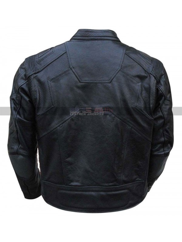 Tom Cruise Oblivion Jack Black & White Leather Jacket