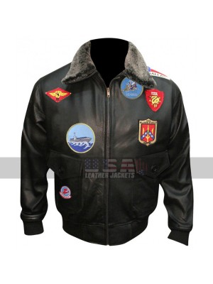 Tom Cruise Pilot Aviator Style Patches Unisex Bomber Jacket