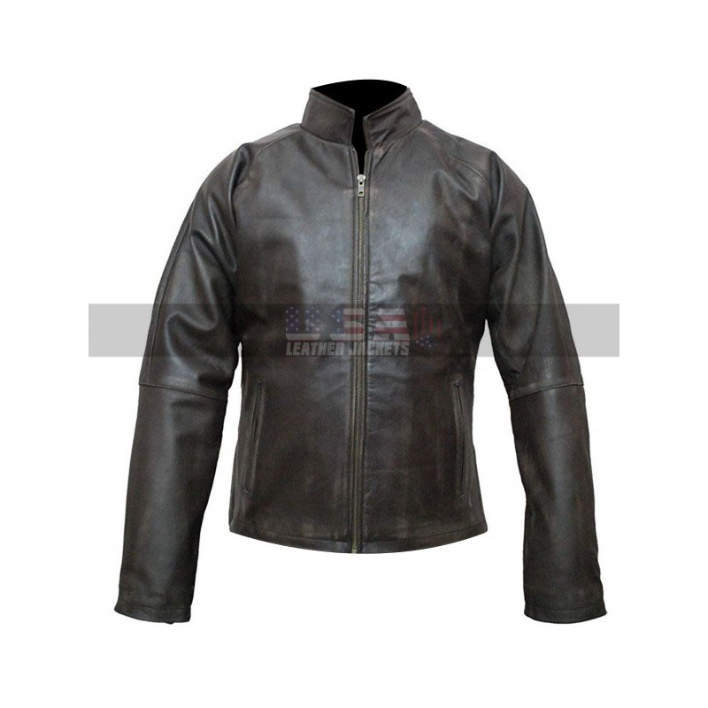 Tom Cruise Jack Reacher Distressed Brown Leather Jacket