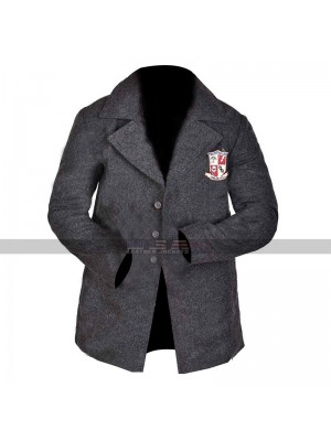 Men The Umbrella Academy Uniform Coat Collage Grey Wool Jacket