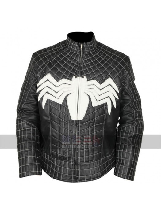 Venom Eddie Brock (Tom Hardy) Black Costume Leather Jacket