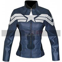 Captain America Winter Soldier Womens Costume Leather Jacket