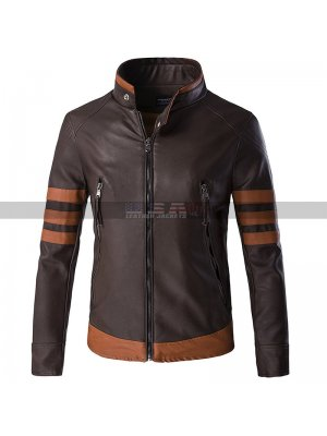X-Men Origins Wolverine Logan Dark Brown Leather Jacket