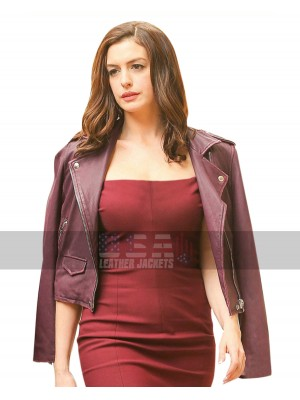 Oceans 8 Daphne Kluger (Anne Hathaway) Purple Leather Jacket
