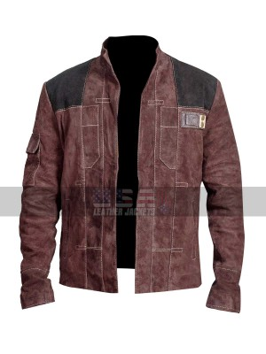 Han Solo (Alden Ehrenreich) Star Wars Story Suede Leather Jacket
