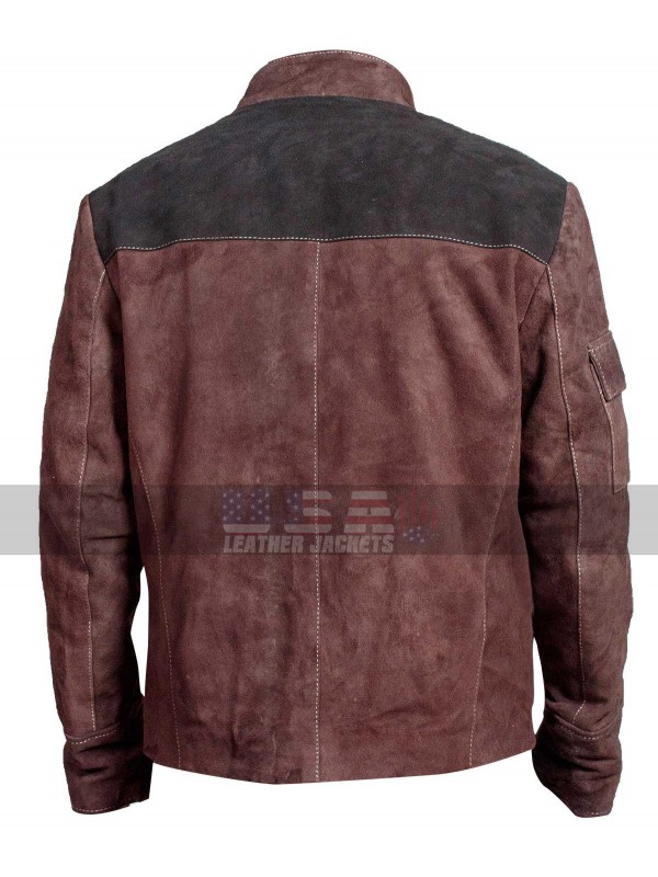 Alden Ehrenreich Suede Leather Jacket | Solo A Star Wars Han Solo Jacket