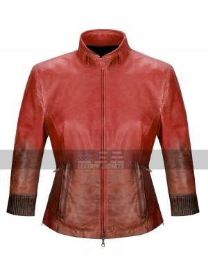 The Avengers Age of Ultron Scarlet Witch Red Leather Jacket