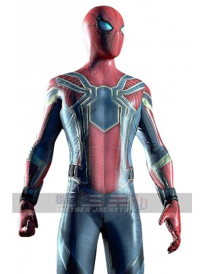 Avengers Infinity War Peter Parker Spider-man Costume Leather Jacket