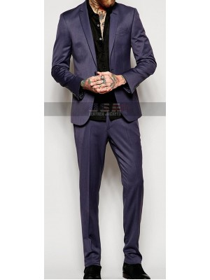 Men Skin Fit Suit in Grey