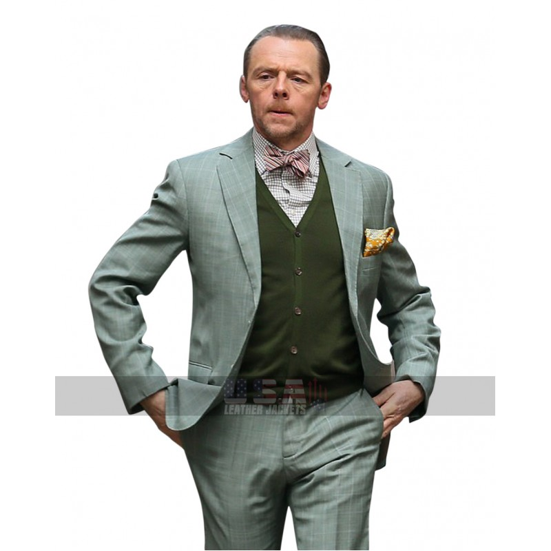 Simon Pegg Mission Impossible 6 Fallout Benji Dunn Tuxedo Suit