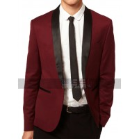 Red Wine Prom Tuxedo Skinny Fit Suit
